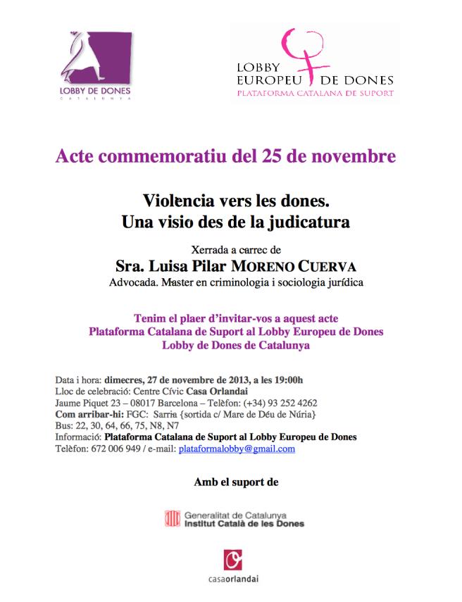 Acte Commemoratiu 25N